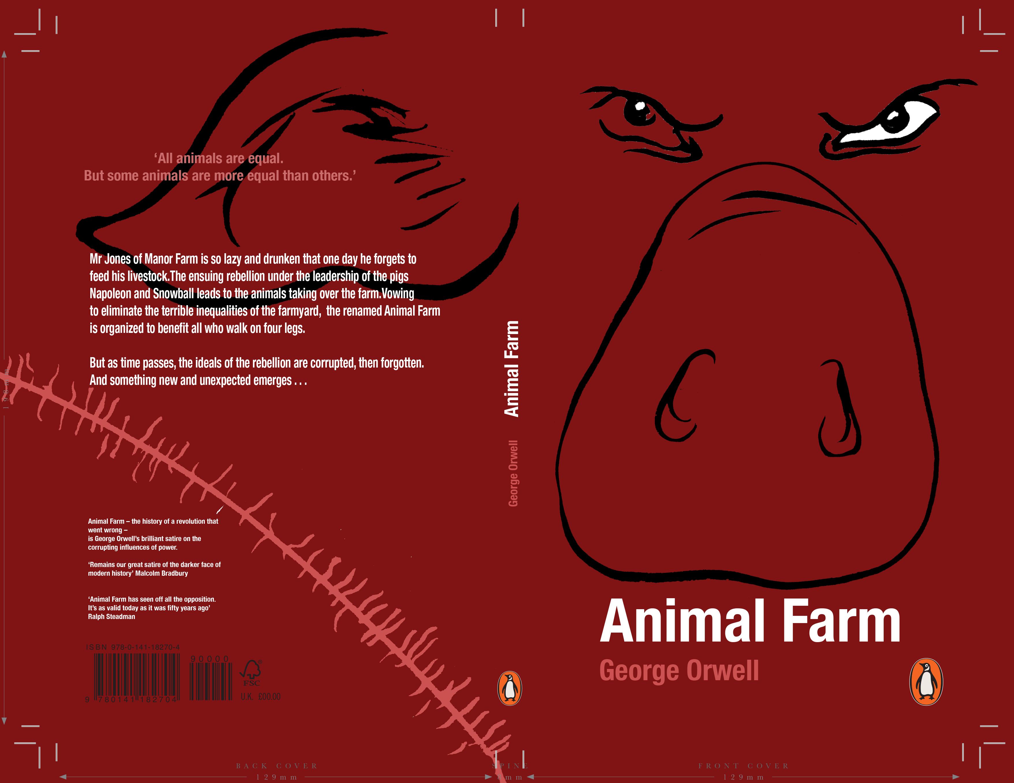 Penguin Book Cover Awards 2018 Adult Fiction Entries Animal Farm